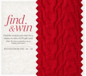 Coldwater Creek Find & Win