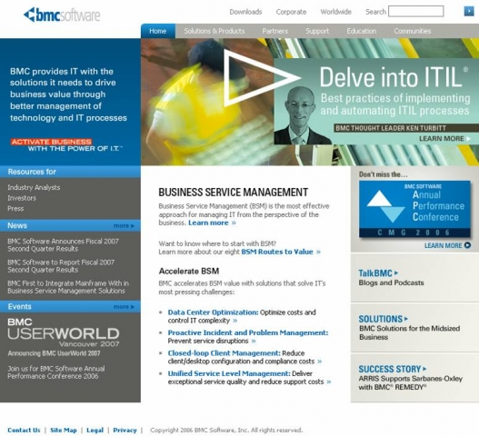 BMC Software: Home Page