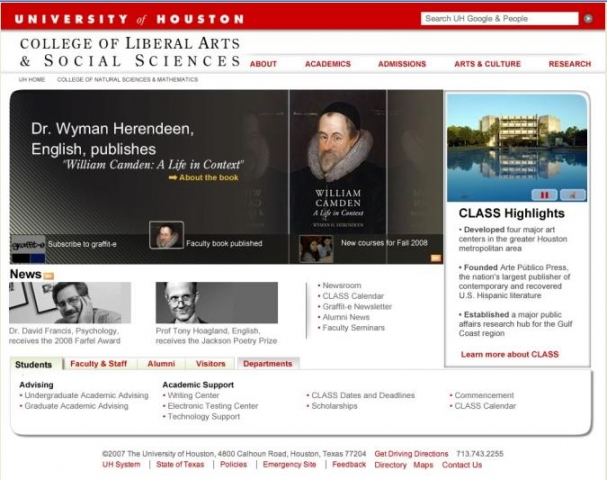 University of Houston: Departmental College Sites