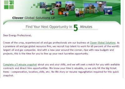 Email: Oil and Gas Recruiting Company